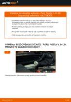 Jak vyměnit přední brzdové kotouče na Ford Fiesta V JH JD – návod k výměně