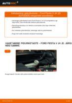 Paigaldus Piduriketas FORD FIESTA V (JH_, JD_) - samm-sammuline käsiraamatute