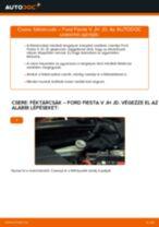 Elülső féktárcsák-csere Ford Fiesta V JH JD gépkocsin – Útmutató