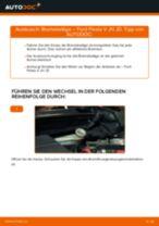 Bremsbeläge vorne selber wechseln: Ford Fiesta V JH JD - Austauschanleitung