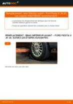 PDF manuel de remplacement: Triangle de suspension FORD Fiesta Mk5 3/5 portes (JH1, JD1, JH3, JD3) arrière et avant