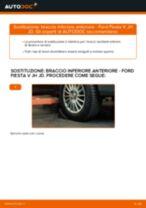 Come cambiare braccio inferiore anteriore su Ford Fiesta V JH JD - Guida alla sostituzione