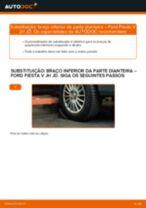 Mudar Braço De Suspensão FORD FIESTA: manual técnico