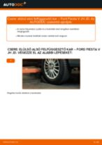 Elülső alsó felfüggesztő kar-csere Ford Fiesta V JH JD gépkocsin – Útmutató