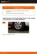 Elülső alsó felfüggesztő kar-csere Opel Zafira F75 gépkocsin – Útmutató