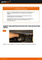 Πώς να αλλάξετε τακάκια φρένων εμπρός σε Opel Zafira F75 - Οδηγίες αντικατάστασης