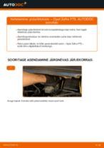 Kuidas vahetada Opel Zafira F75 esi-piduriklotse – õpetus