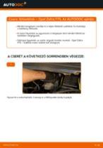Elülső fékbetétek-csere Opel Zafira F75 gépkocsin – Útmutató