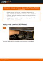 Schimbare Placute Frana OPEL ZAFIRA: manual de intretinere si reparatii
