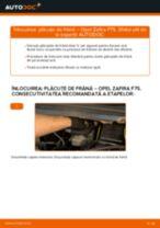 Cum să schimbați: plăcuțe de frână din spate la Opel Zafira F75 | Ghid de înlocuire