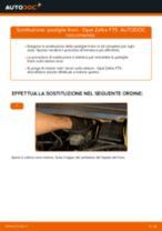 Come cambiare pastiglie freno della parte anteriore su Opel Zafira F75 - Guida alla sostituzione