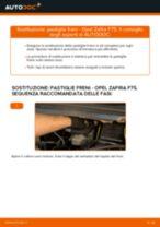 Come cambiare pastiglie freno della parte posteriore su Opel Zafira F75 - Guida alla sostituzione