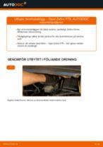 Onlineguide för att själv byta Bromsbeläggssats skivbroms i OPEL ZAFIRA A (F75_)