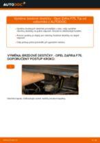 Jak vyměnit zadní brzdové destičky na Opel Zafira F75 – návod k výměně