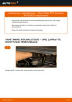 Kuidas vahetada Opel Zafira F75 taga-piduriklotse – õpetus