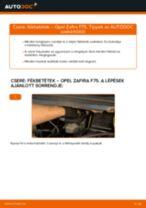 Hátsó fékbetétek-csere Opel Zafira F75 gépkocsin – Útmutató