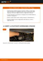 Elülső féktárcsák-csere Opel Zafira F75 gépkocsin – Útmutató