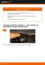 OPEL ZAFIRA Stabilizatorius keitimas: nemokamas pdf