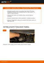 Kaip pakeisti Opel Zafira F75 stabdžių diskų: priekis - keitimo instrukcija
