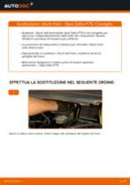 Come cambiare dischi freno della parte anteriore su Opel Zafira F75 - Guida alla sostituzione
