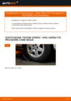 OPEL ZAFIRA A (F75_) Candeletta sostituzione: tutorial PDF passo-passo