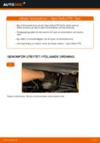 Byta bromsskivor fram på Opel Zafira F75 – utbytesguide