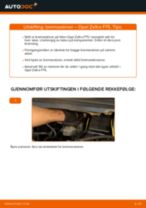 Slik bytter du bremseskiver fremme på en Opel Zafira F75 – veiledning
