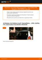 Jak wymienić siłowników klapy bagażnika w Opel Zafira F75 - poradnik naprawy