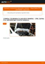 Online bezplatné pokyny ako obnoviť Klinový rebrovaný remen OPEL ZAFIRA A (F75_)
