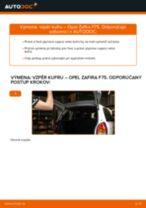 Ako vymeniť vzpěry kufru na Opel Zafira F75 – návod na výmenu