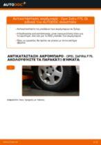 Πώς να αλλάξετε ακρόμπαρο σε Opel Zafira F75 - Οδηγίες αντικατάστασης