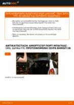 Αλλαγή Αμορτισέρ Πορτ Μπαγκαζ OPEL ZAFIRA: εγχειριδιο χρησης