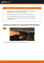 Kako zamenjati avtodel zavorni diski spredaj na avtu Opel Zafira F75 – vodnik menjave