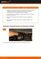 Como mudar discos de travão da parte dianteira em Opel Zafira F75 - guia de substituição
