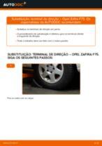 Como mudar terminal de direção em Opel Zafira F75 - guia de substituição