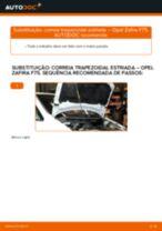 Como mudar correia trapezoidal estriada em Opel Zafira F75 - guia de substituição