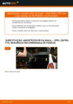 Como mudar amortecedor da mala em Opel Zafira F75 - guia de substituição
