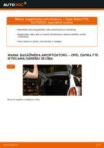 Kā nomainīt: bagāžnieka amortizatoru Opel Zafira F75 - nomaiņas ceļvedis