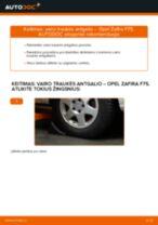 Kaip pakeisti Opel Zafira F75 vairo traukės antgalio - keitimo instrukcija