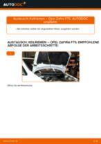 Schritt-für-Schritt-PDF-Tutorial zum Keilrippenriemen-Austausch beim OPEL ZAFIRA A (F75_)