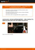 Wie Opel Zafira F75 Heckklappendämpfer wechseln - Schritt für Schritt Anleitung