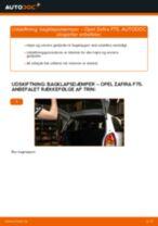 Manuel PDF til vedligeholdelse af ZAFIRA