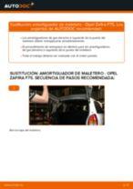 Cómo cambiar: amortiguador de maletero - Opel Zafira F75 | Guía de sustitución