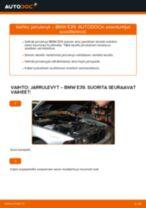 Kuinka vaihtaa jarrulevyt eteen BMW E39-autoon – vaihto-ohje