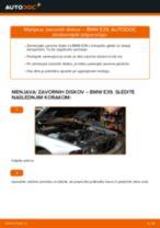 Kako zamenjati avtodel zavorni diski spredaj na avtu BMW E39 – vodnik menjave