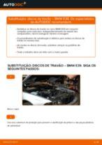 Como mudar discos de travão da parte dianteira em BMW E39 - guia de substituição