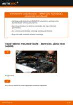 Kuidas vahetada BMW E39 esi-piduriketaste – õpetus
