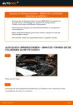 Wie Bremssattel Reparatursatz beim BMW 5 (E39) wechseln - Handbuch online