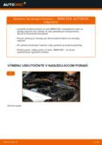 Ako vymeniť zadné brzdové kotúče na BMW E39 – návod na výmenu
