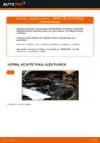 Kaip pakeisti BMW E39 stabdžių diskų: galas - keitimo instrukcija
